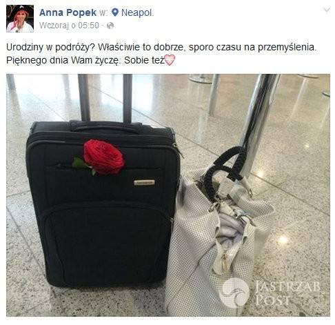 Anna Popek obchodziła urodziny na lotnisku