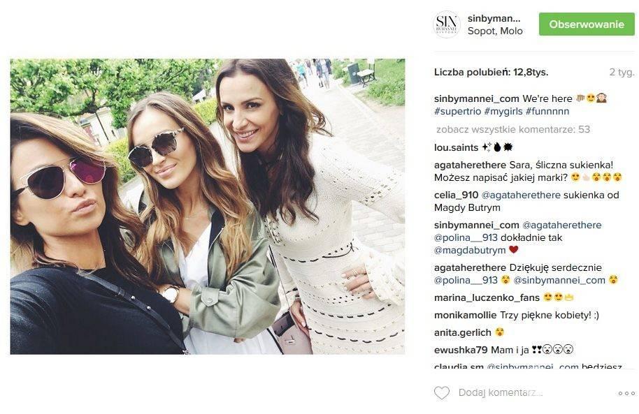 Anna Lewandowska, Marina Łuczenko i Sara Boruc są przyjaciółkami