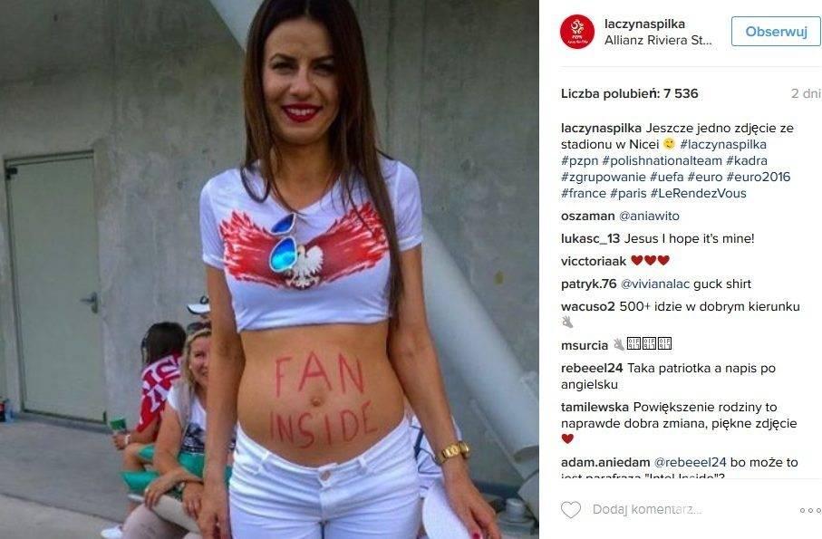 Katarzyna Stendera na profilu na Instagramie PZPN