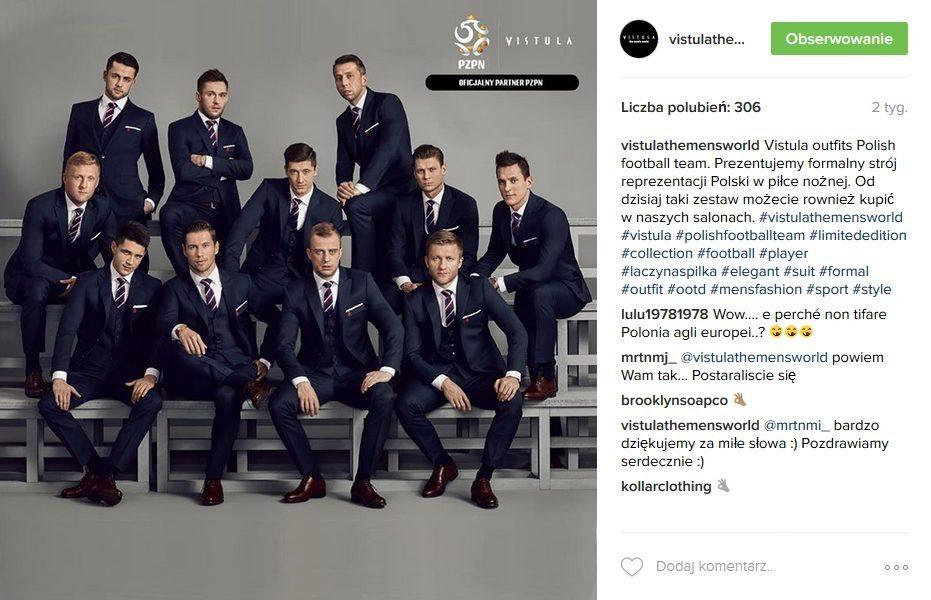 Marka Vistula zaprojektowała stroje dla reprezentacji Polski na EURO 2016 (fot. Instagram)
