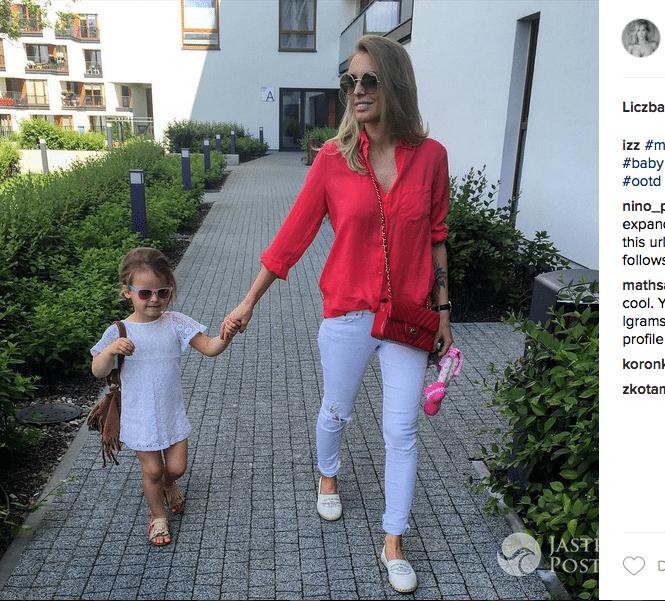 Izabela Adamczyk z córką