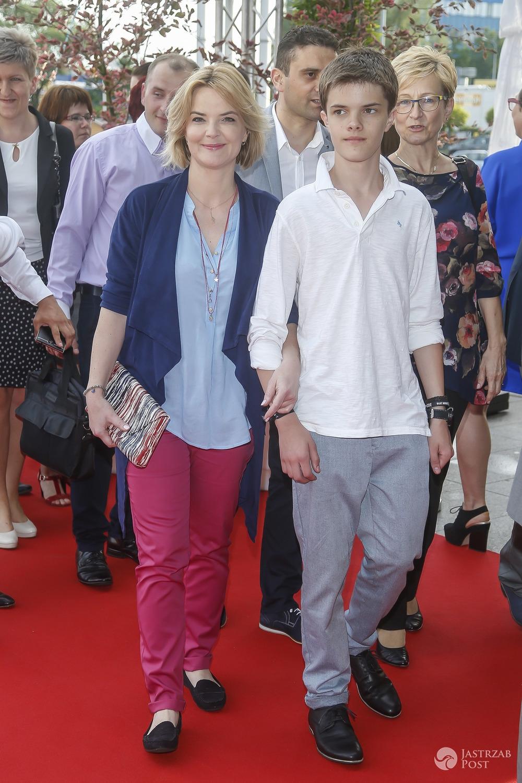 Monika Zamachowska z synem Tomkiem