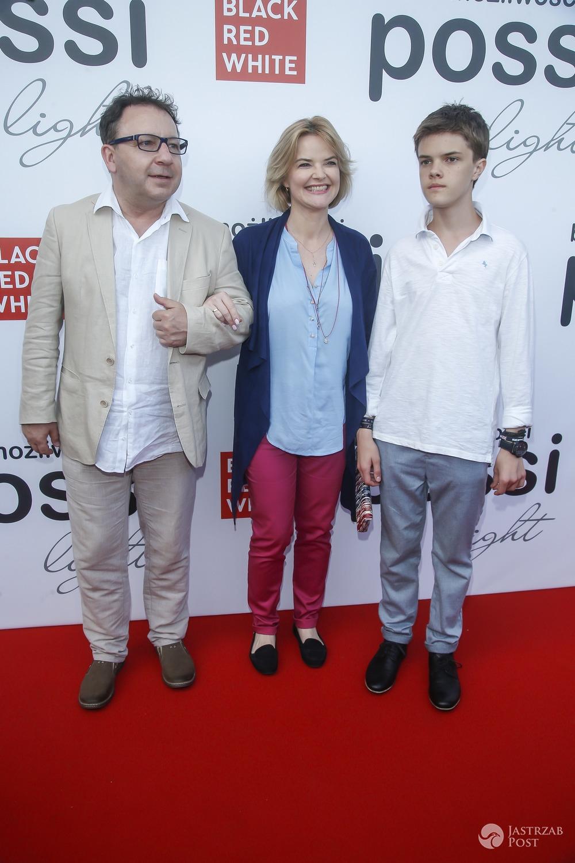 Monika Zamachowska z synem Tomkiem i mężem Zbigniewem Zamachowskim