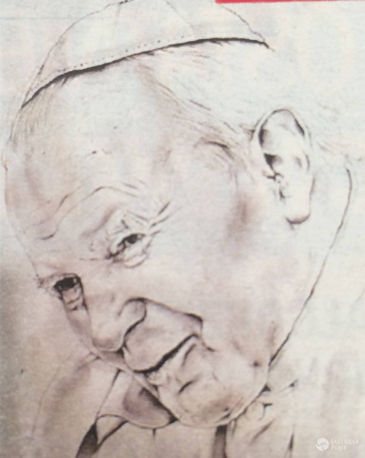 Dariusz Krupa narysował papieża