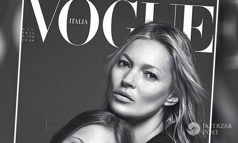 """Lila Grace, córka Kate Moss, ze swoją mamą na okładce """"Vogue Italia"""", czerwiec 2016 (fot. Mario Sorrenti/Vogue Italia)"""