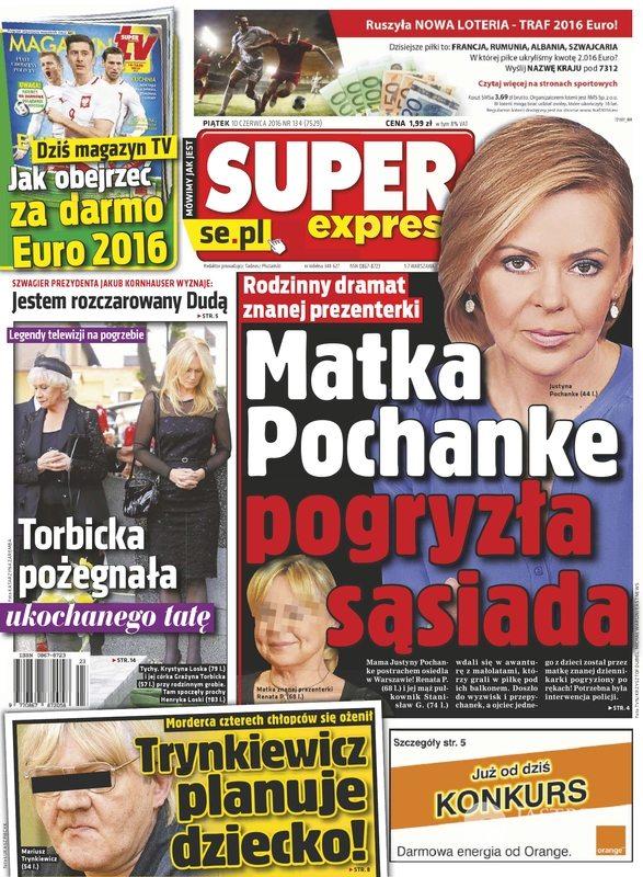 Mama Justyny Pochanke pogryzła sąsiada