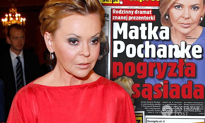 Mama Justyny Pochanke zaatakowała sąsiada