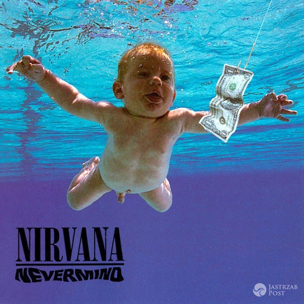 """Okładka płyty zespołu Nirvana """"Nevermind"""" z 1991 r."""