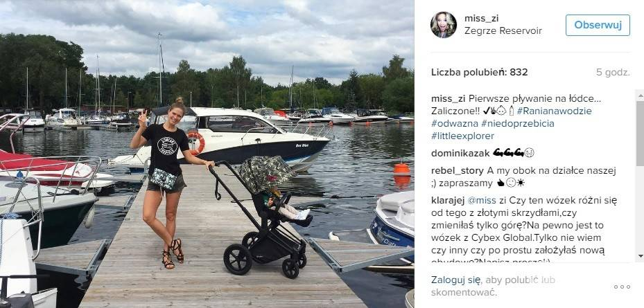 Zosia Ślotała pływała z córką na łódce