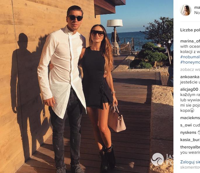 Marina i Wojciech Szczęsny w podróży poślubnej zdjęcia 2016