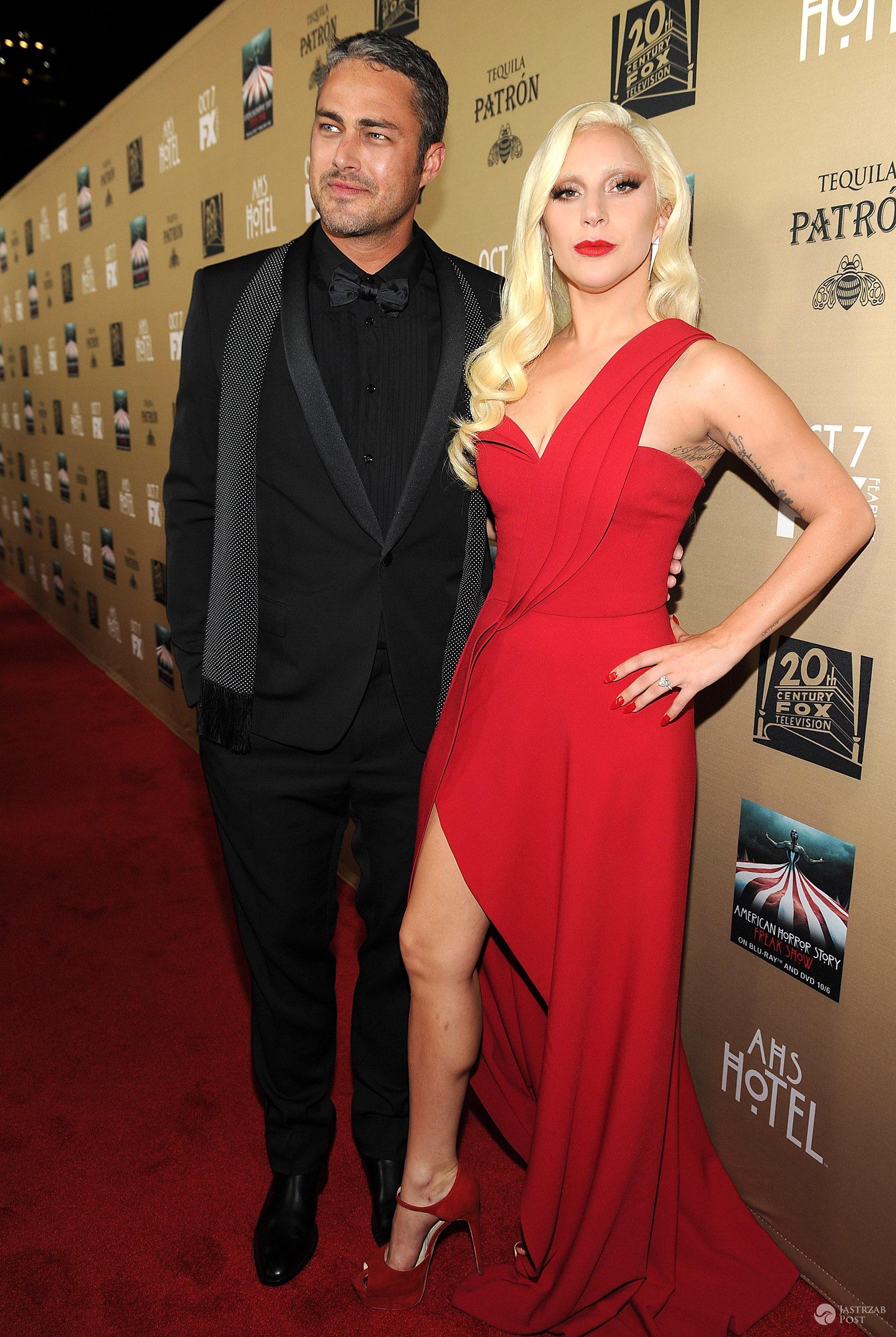 Taylor Kinney i Lady Gaga (fot. ONS)