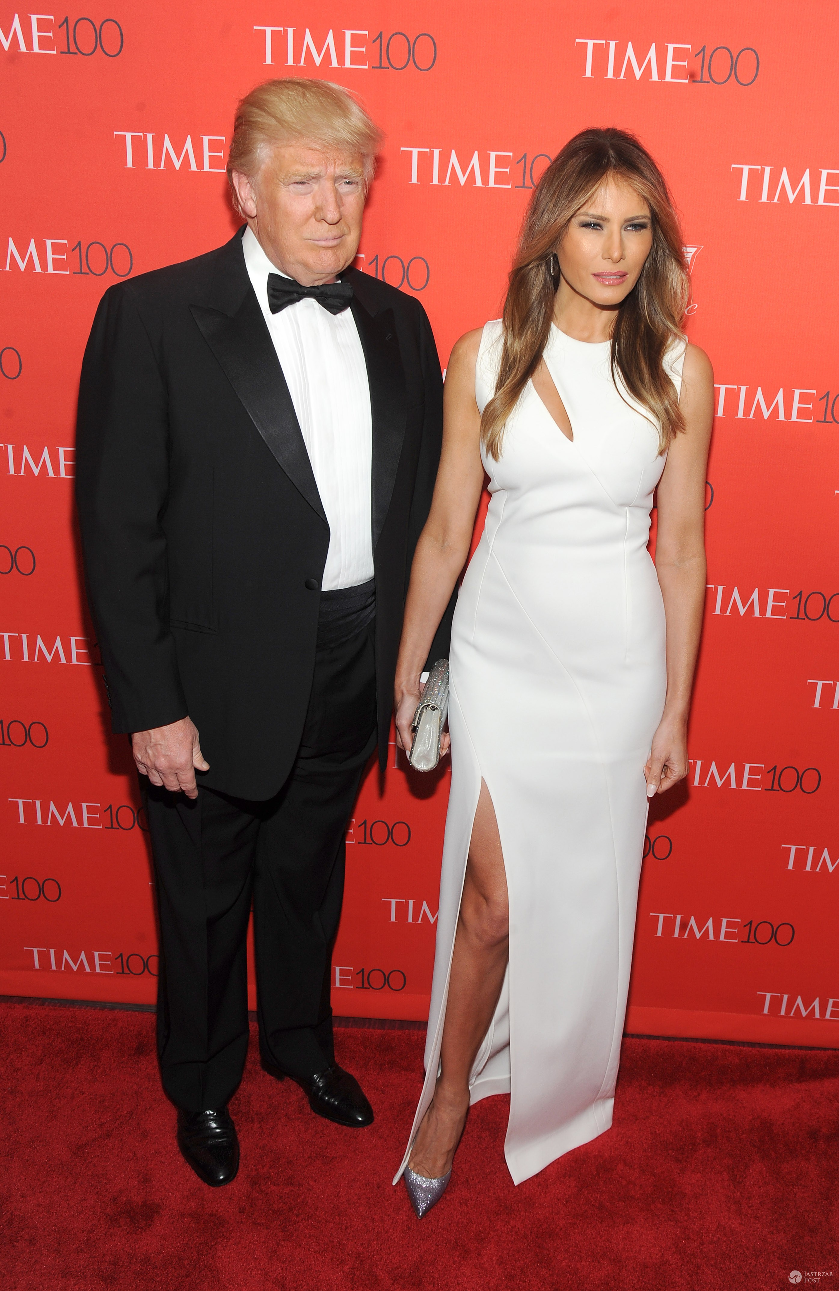 Donald Trump (kandydat Republikanów na fotel prezydenta USA) z żoną Melanią Trump (fot. ONS)