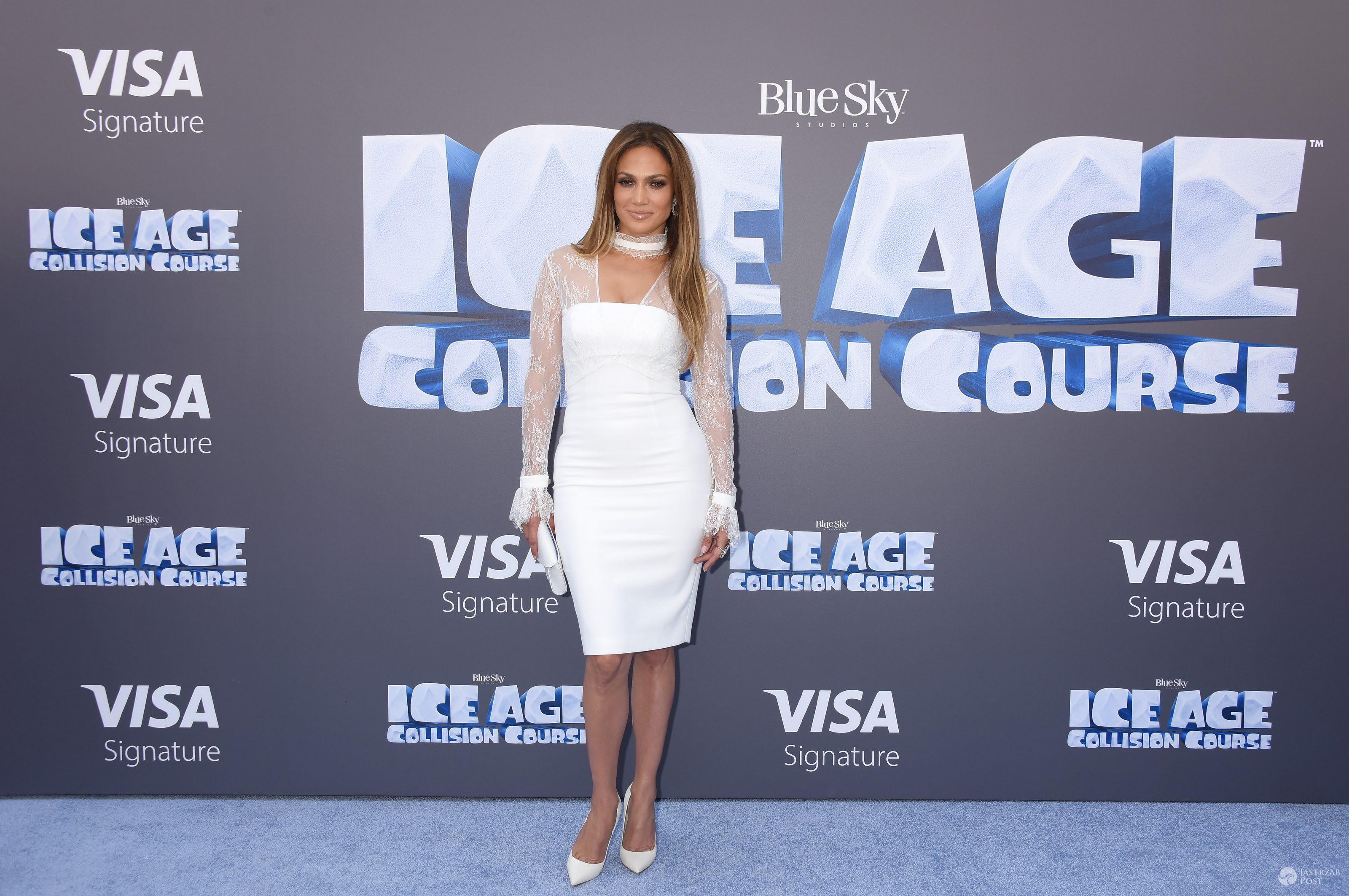 """Jennifer Lopez, premiera filmu """"Epoka lodowcowa 5"""" (fot. ONS)"""