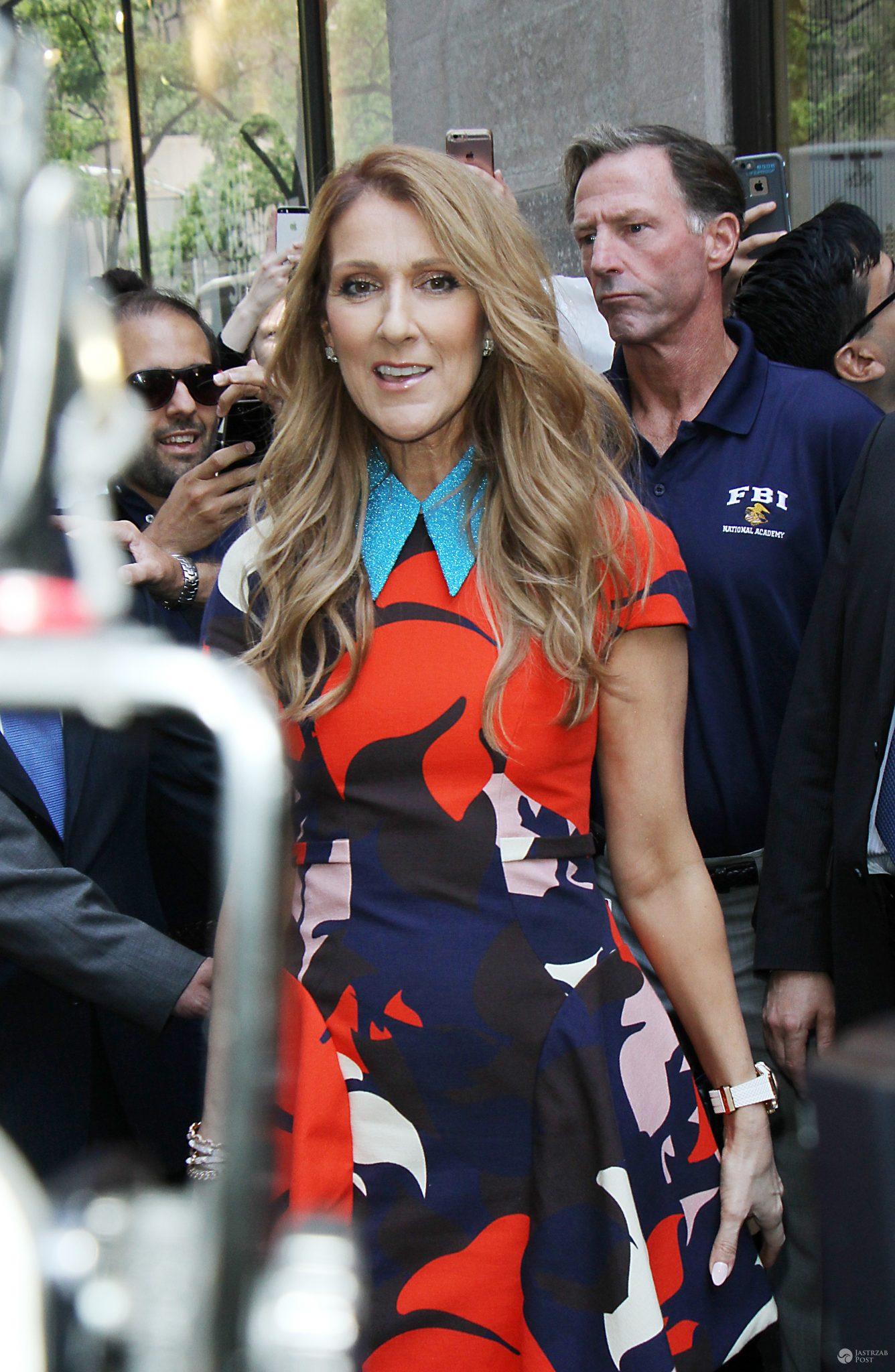 Wesoła Celine Dion w Nowym Jorku
