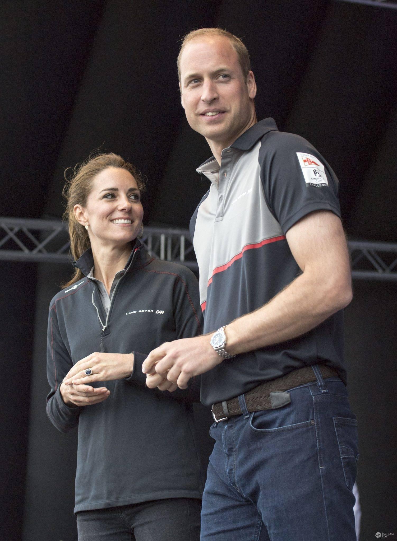 Książę William i księżna Kate na zawodach żeglarskich America's Cup w Portsmouth (fot. ONS)