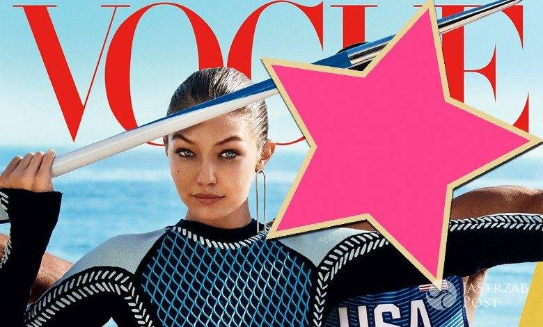 """Gigi Hadid i Ashton Eaton, amerykański """"Vogue"""", sierpień 2016 (fot. Mario Testino)"""
