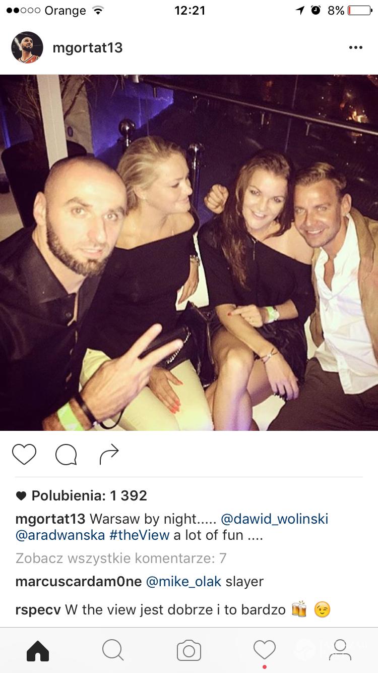 Andrzej Wrona, Marcin Gortat, Agnieszka Radwańska i Dawid Woliński razem na imprezie