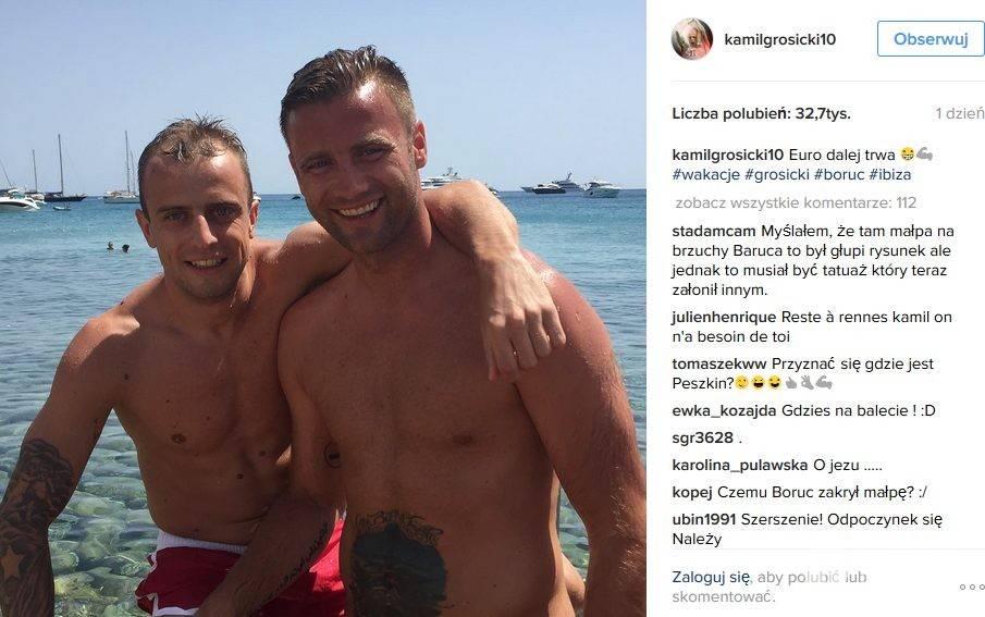 Kamil Grosicki z żoną Dominiką wypoczywa na Ibizie. Mają okazję spędzić czas z inną piłkarską parą - Arturem Borucem i jego żoną