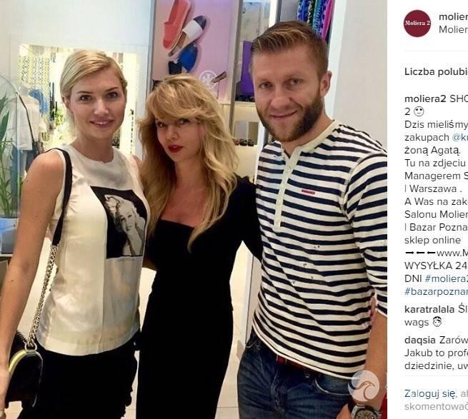 Kuba Błaszczykowski na zakupach z żoną Agatą