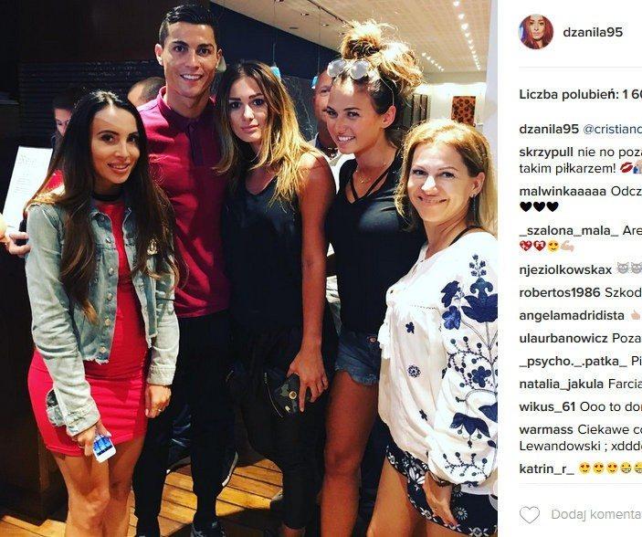 Polskie WAGs spotkały się z Cristiano Ronaldo