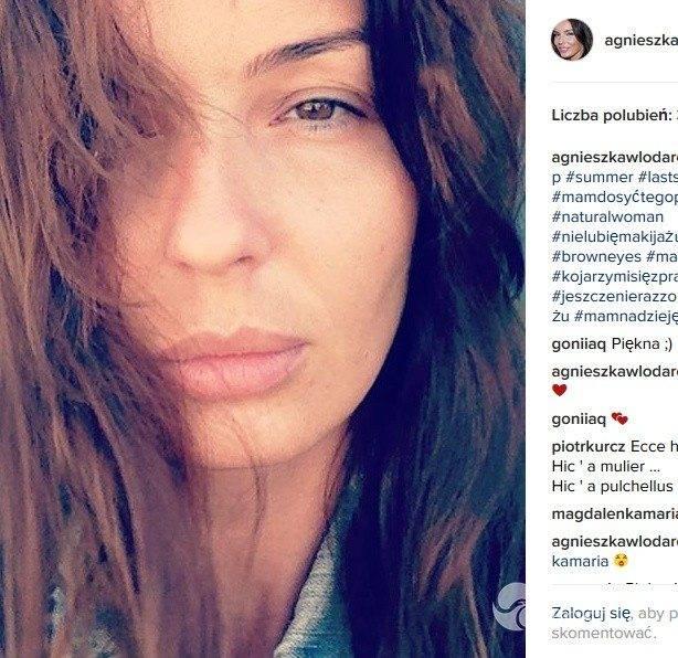Agnieszka Włodarczyk bez makijażu