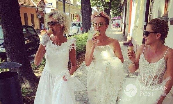 Katarzyna Zielińska w sukni ślubnej