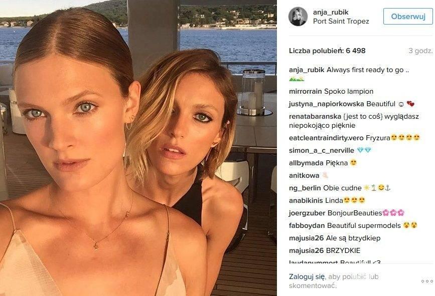Anja Rubik i Constance Jablonski na imprezie u Leonardo DiCaprio