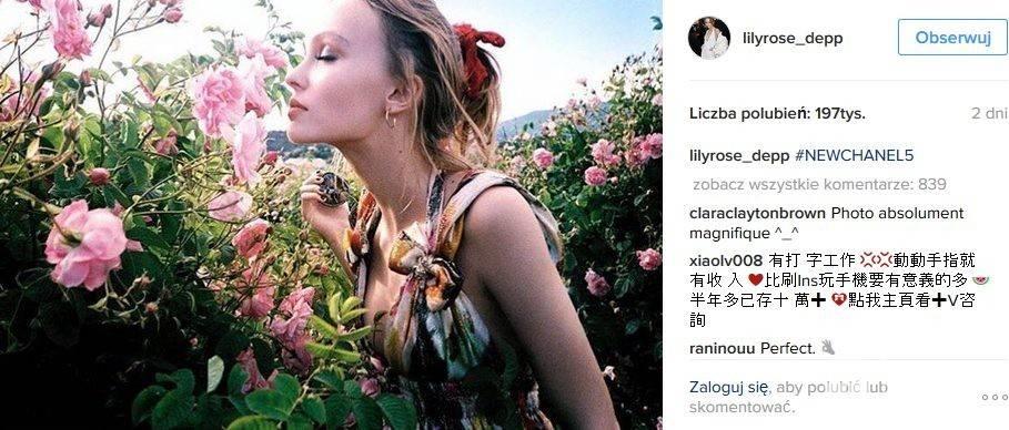 Pierwsza odsłona jesiennej kampanii perfum Chanel No 5 udziałem Lily-Rose Depp
