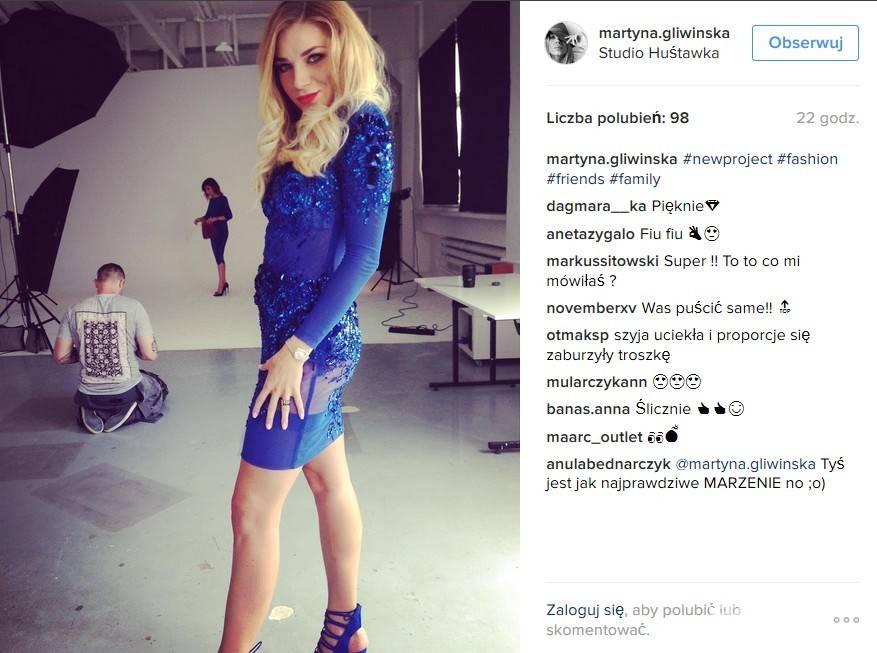 Martyna Gliwińska założyła bloga