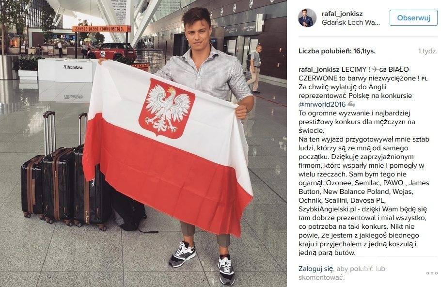 Mister Polki 2015 Rafał Jonkisz jest jednym z finalistów wyborów Mister World 2016