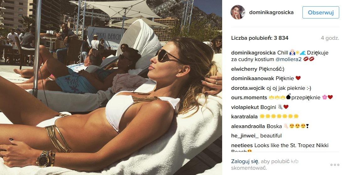Dominika Grosicka w bikini Beach Bunny odpoczywa w Monte Carlo