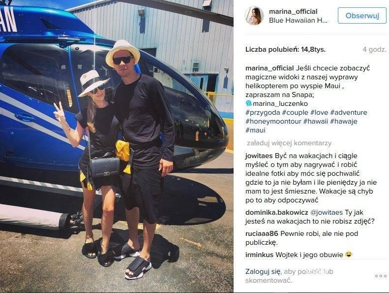 Marina Łuczenko i Wojtek Szczęsny na wakacjach na Hawajach