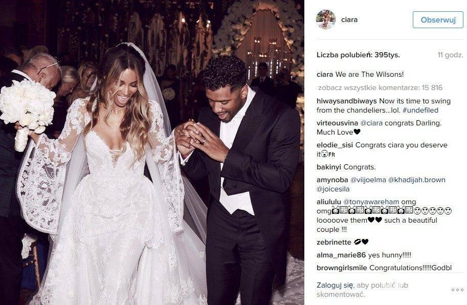 Ciara wyszła za mąż. Jej wybrankiem jest Russell Wilson