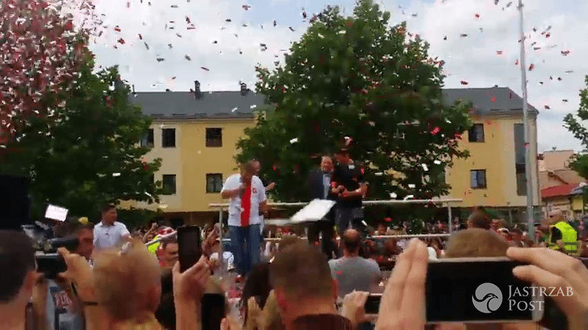 Łukasz Fabiański w Słubicach po EURO 2016 - powitanie