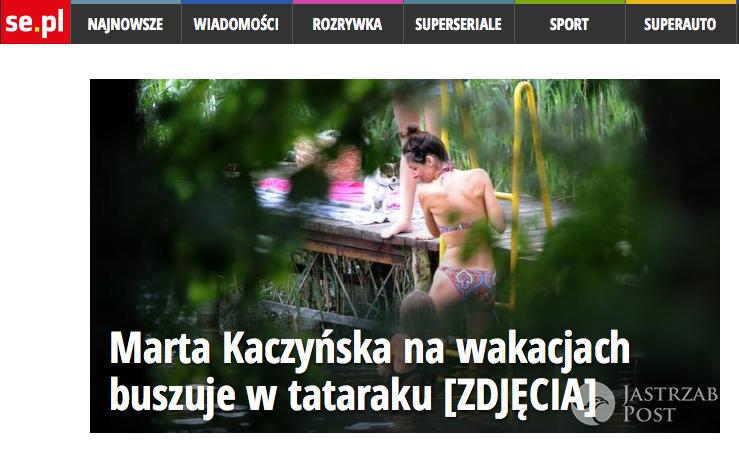Marta Kaczyńska na wakacjach (fot. Se.pl)