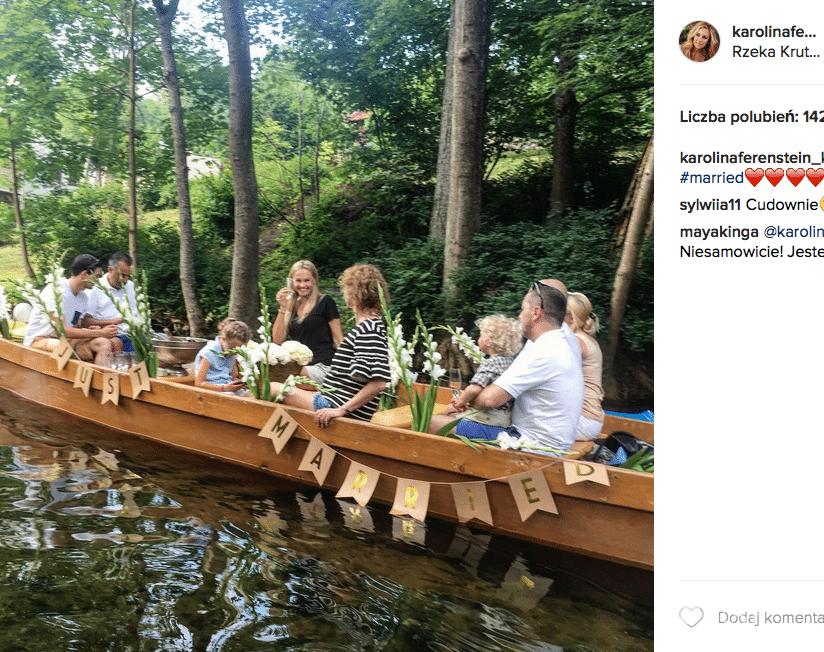 Karolina Ferenstein-Kraśko pokazała zdjęcie z wesela