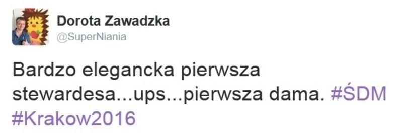 Dorota Zawadzka krytykuje Agatę Dudę