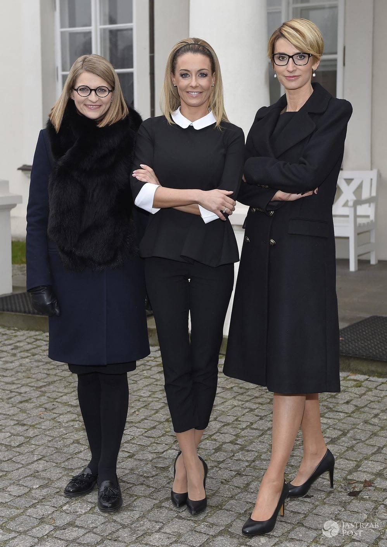 """Mentorki """"Projekt Lady"""" Irena Kamińska-Radomska i Tatiana Mindewicz-Puacz oraz prowadząca program Małgorzata Rozenek (fot. AKPA)"""
