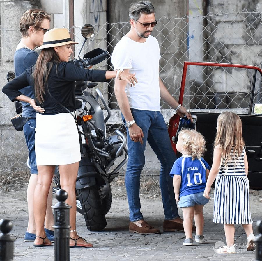 Anna Mucha i Marcel Sora z dziećmi