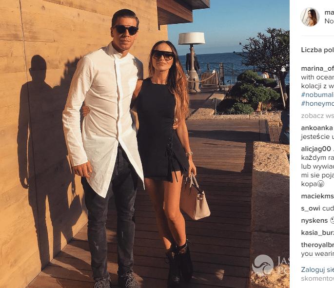 Marina Łuczenko i Wojciech Szczęsny na romantycznej kolacji w Malibu