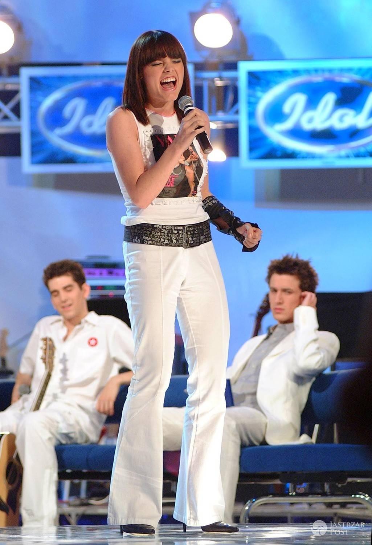 Ania Dąbrowska w Idolu w młodości