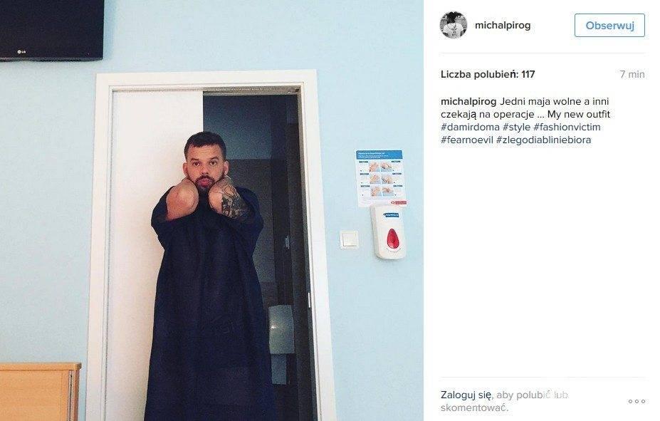Michał Piróg w szpitalu. Przejdzie operację