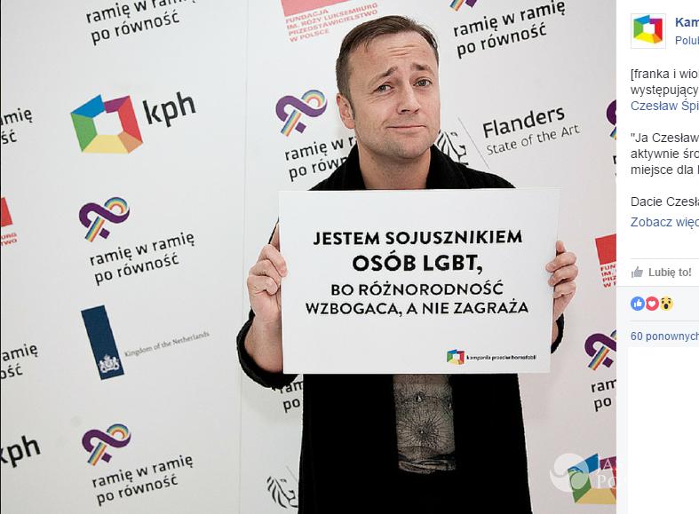 Czesław Mozil popiera środowisko LGBT