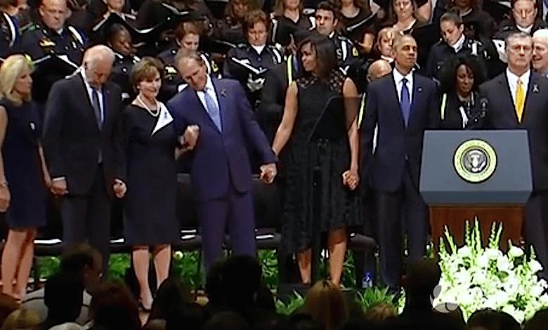 Pijany prezydent George W. Bush na pogrzebie