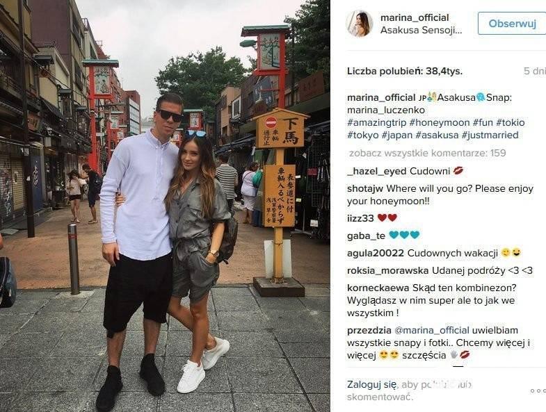 Marina i Wojciech Szczęsny w Los Angeles