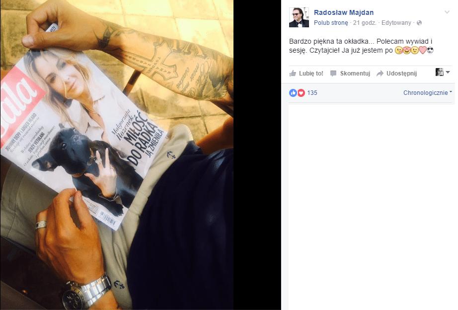 Radek Majdan jest dumny z Małgorzaty Rozenek