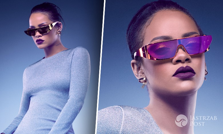 Rihanna w kampanii promującej jej kolekcję okularów dla Dior (fot. Jean-Baptiste Mondino / Dior)