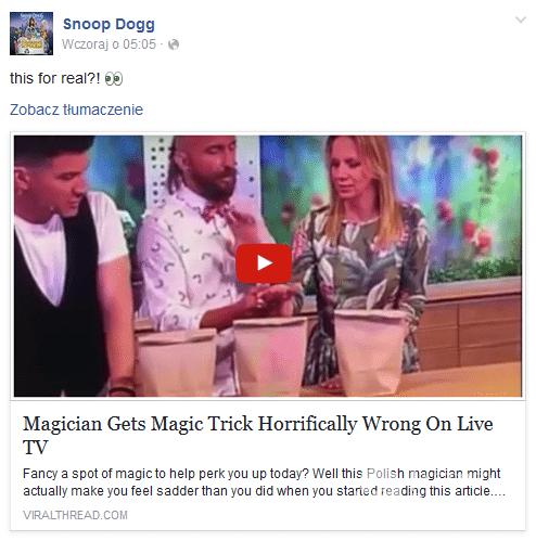 Marzena Rogalska u Snoop Dogg'a