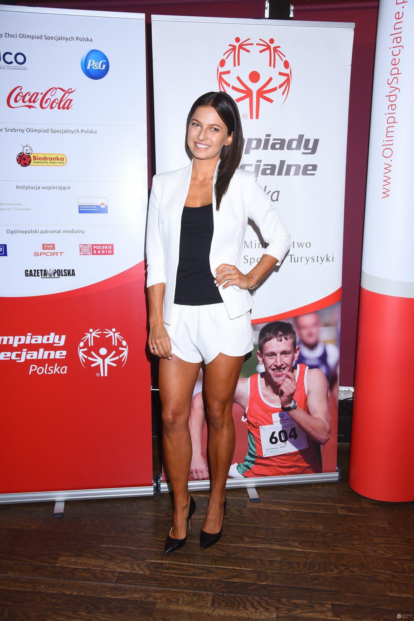 Anna Lewandowska na imprezie Olimpiady Specjalne Polska