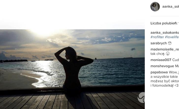 Wakacje Anny Karczmarczyk na Malediwach. Zdjęcia w bikini